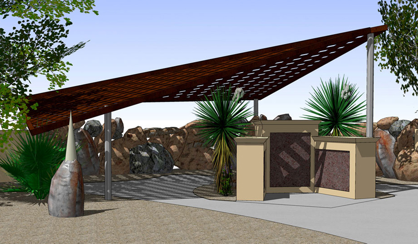 Architectural Canopy Structures : Architecture steel shade structure