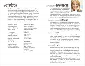 Wealth Management Brochure Interior Spread 2