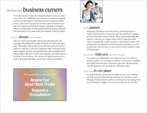 Wealth Management Brochure Interior Spread 3