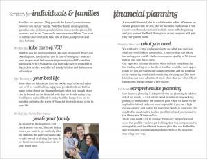 Wealth Management Brochure Interior Spread 4