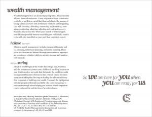 Wealth Management Brochure Interior Spread 5