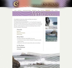 Custom Website Design Sample Page