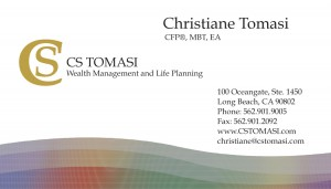 Financial Advisor Business Card Front