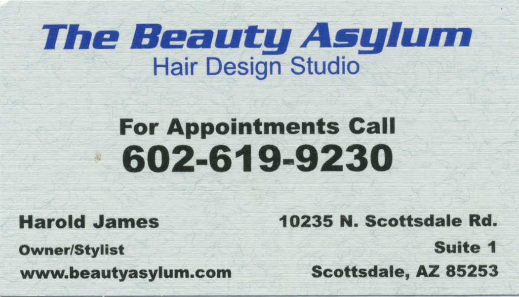 business card before