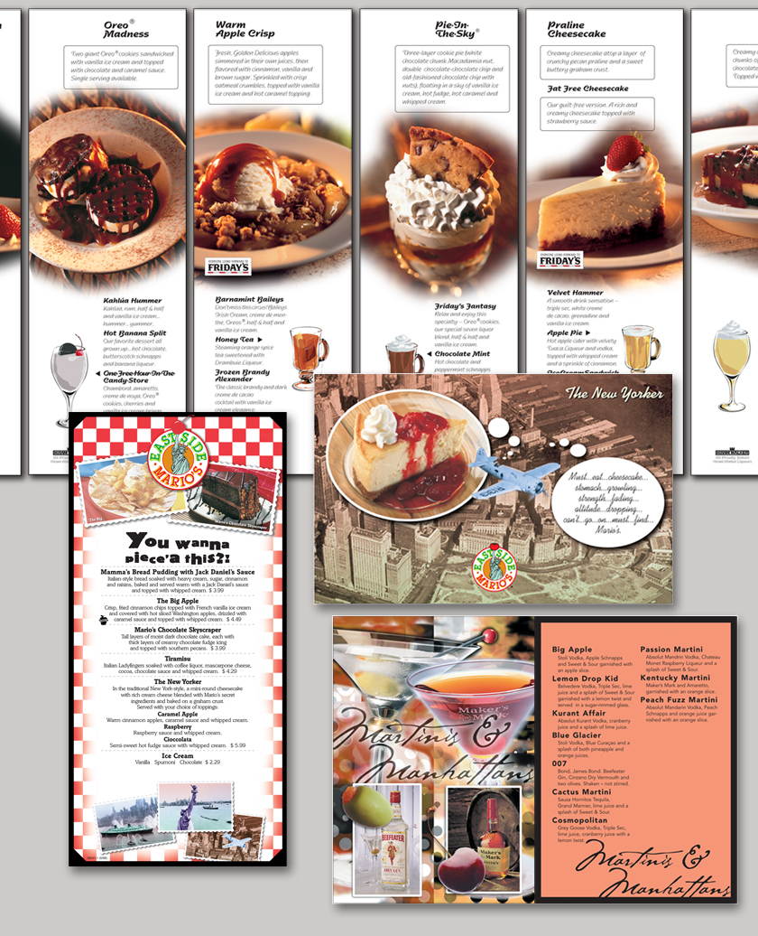 Restaurant menu design designer